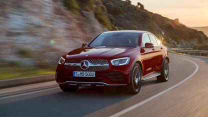 Mercedes-Benz GLC Coupé - in voller Fahrt am Meer