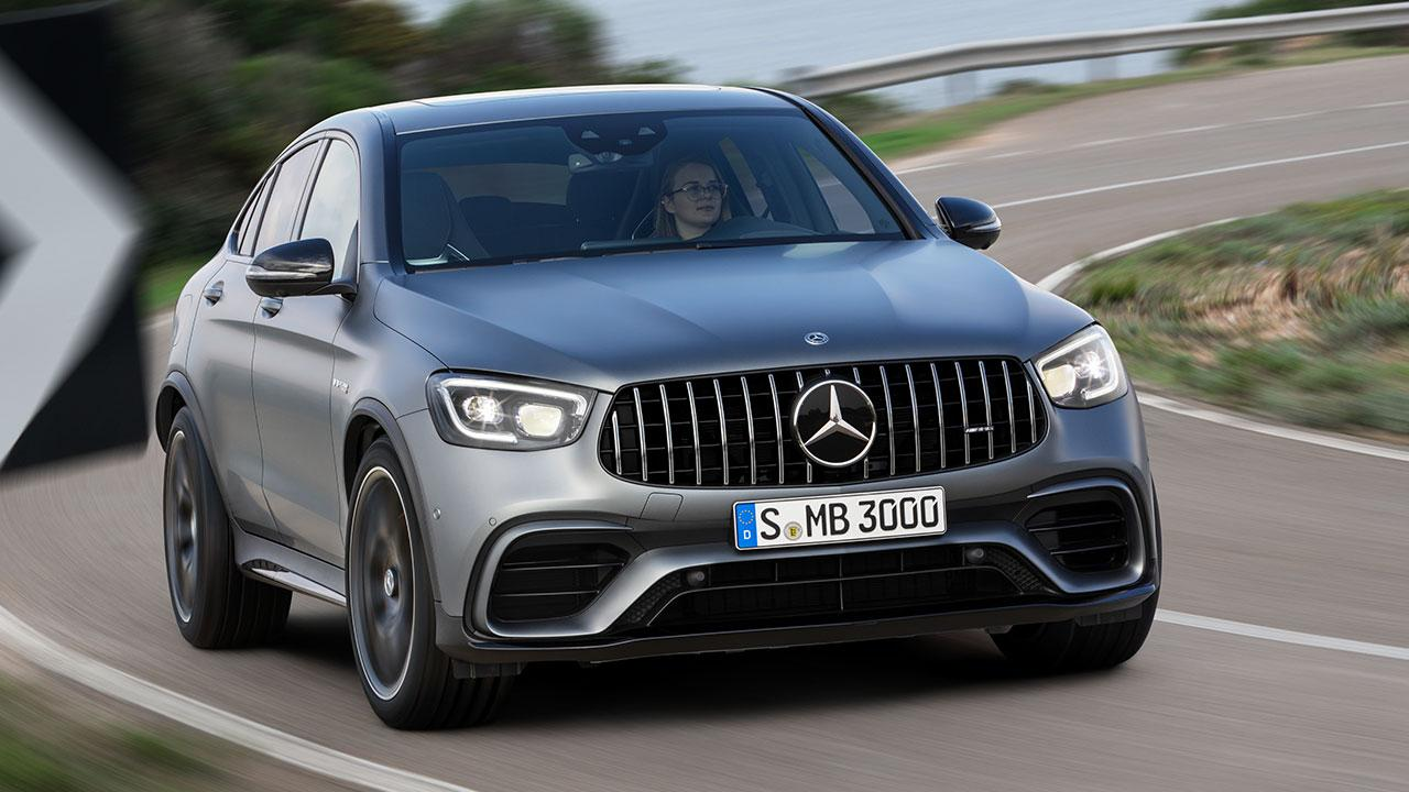 Mercedes-AMG GLC 63 Coupé - in der Kurve