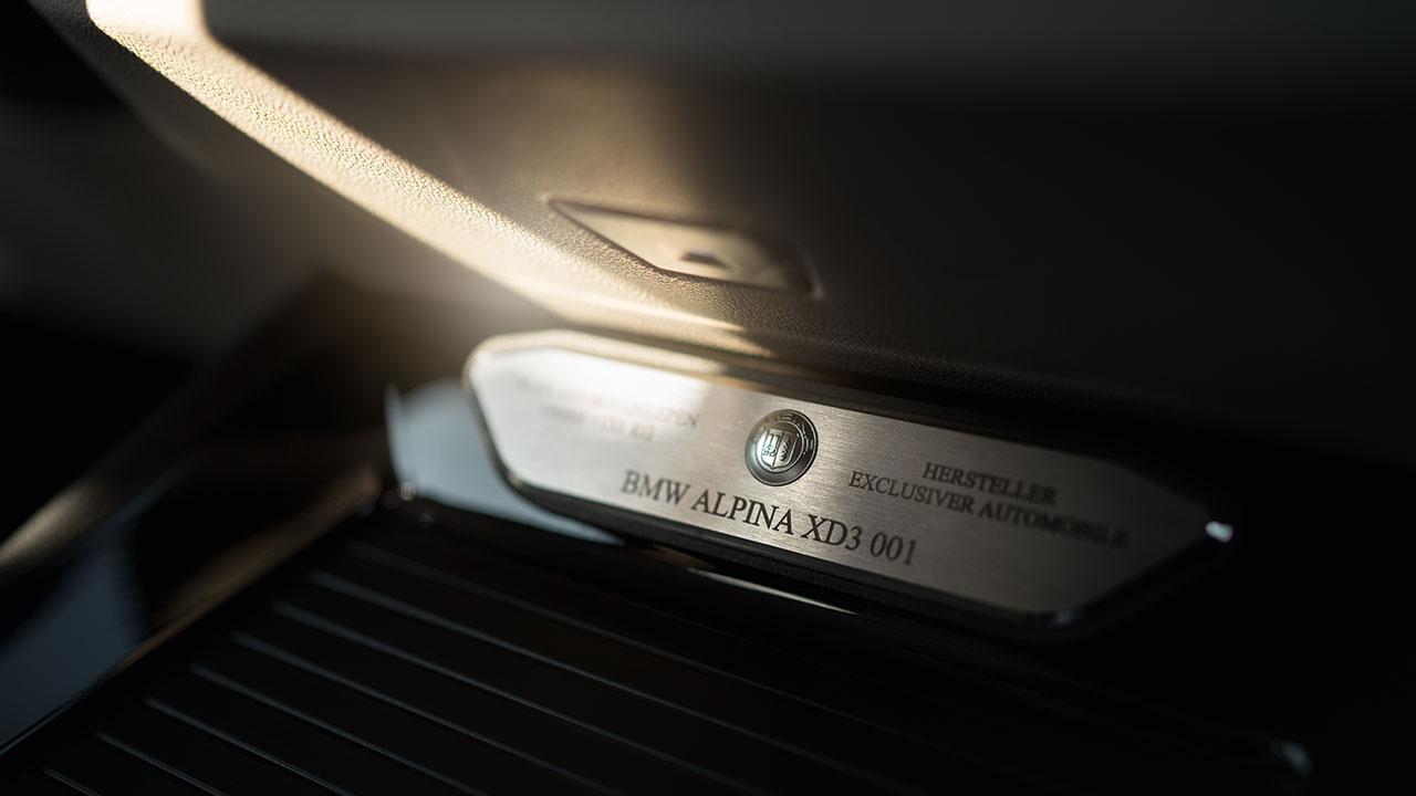 Alpina XD3 - Logo Plakette