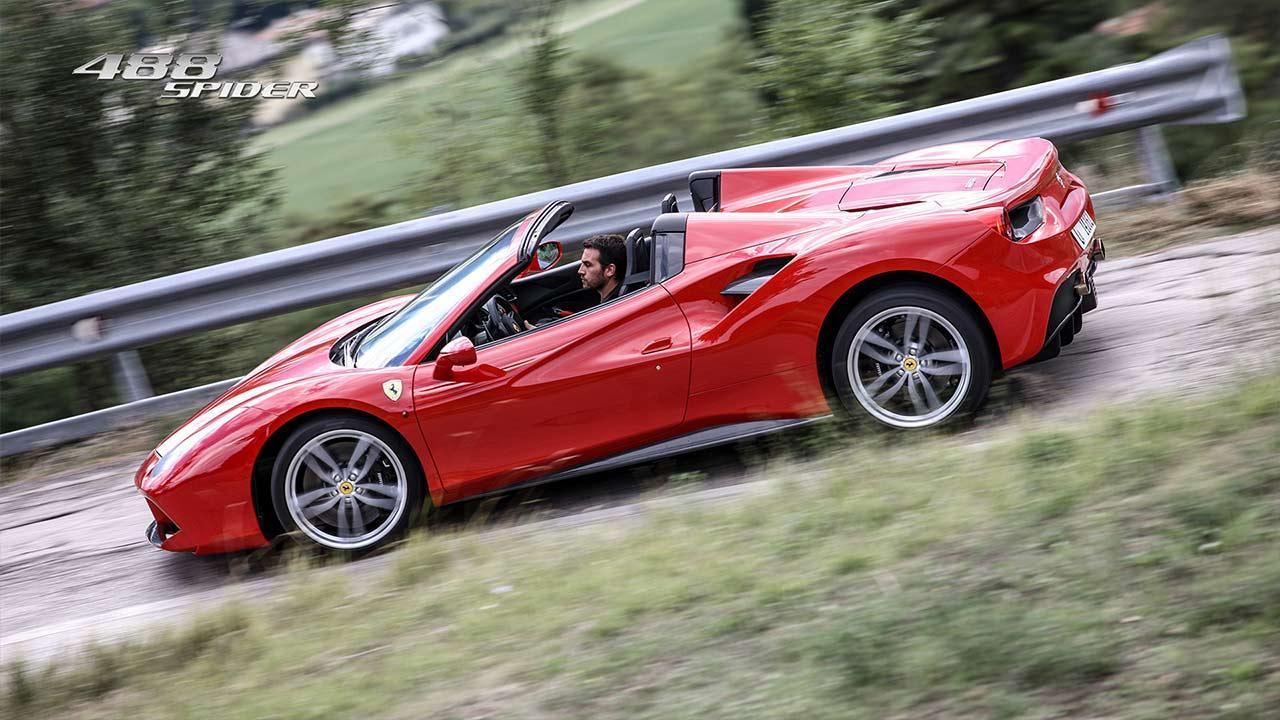 Ferrari 488 Spider - Seitenansicht