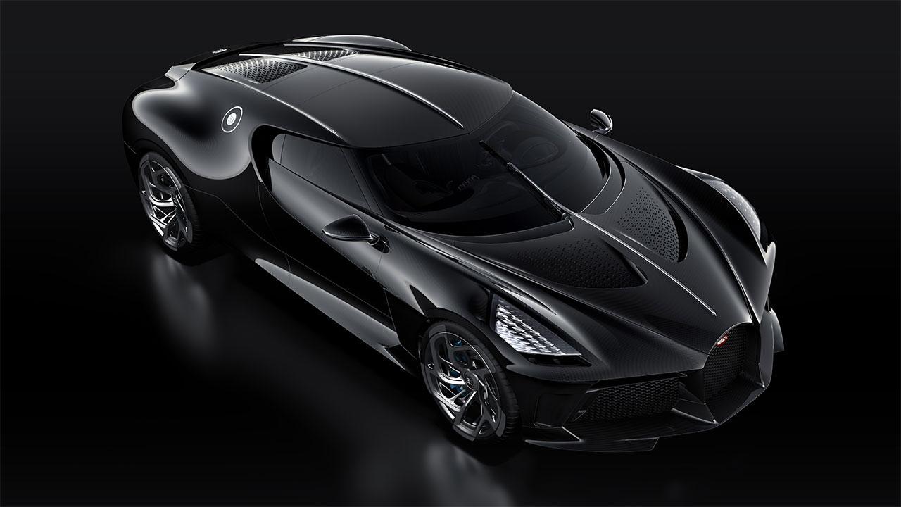 Bugatti La Voiture Noire - Vogelperspektive