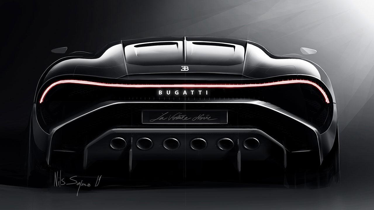 Bugatti La Voiture Noire - Heckansicht