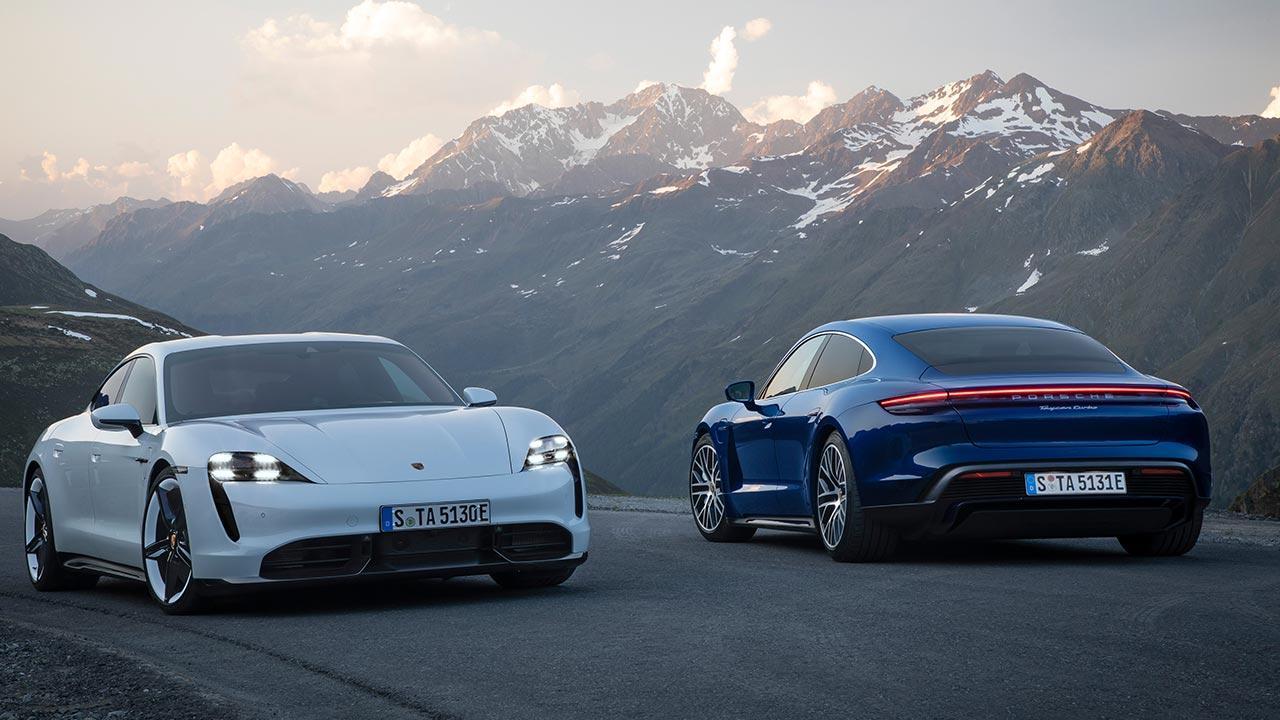 Porsche Taycan Turbo - beide Farben