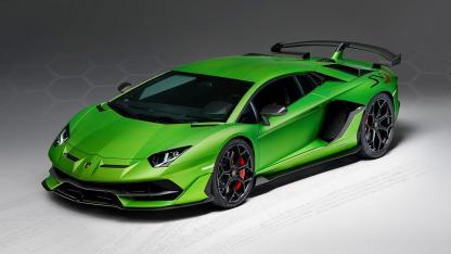 Lamborghini Aventador SVJ - seitliche Frontansicht