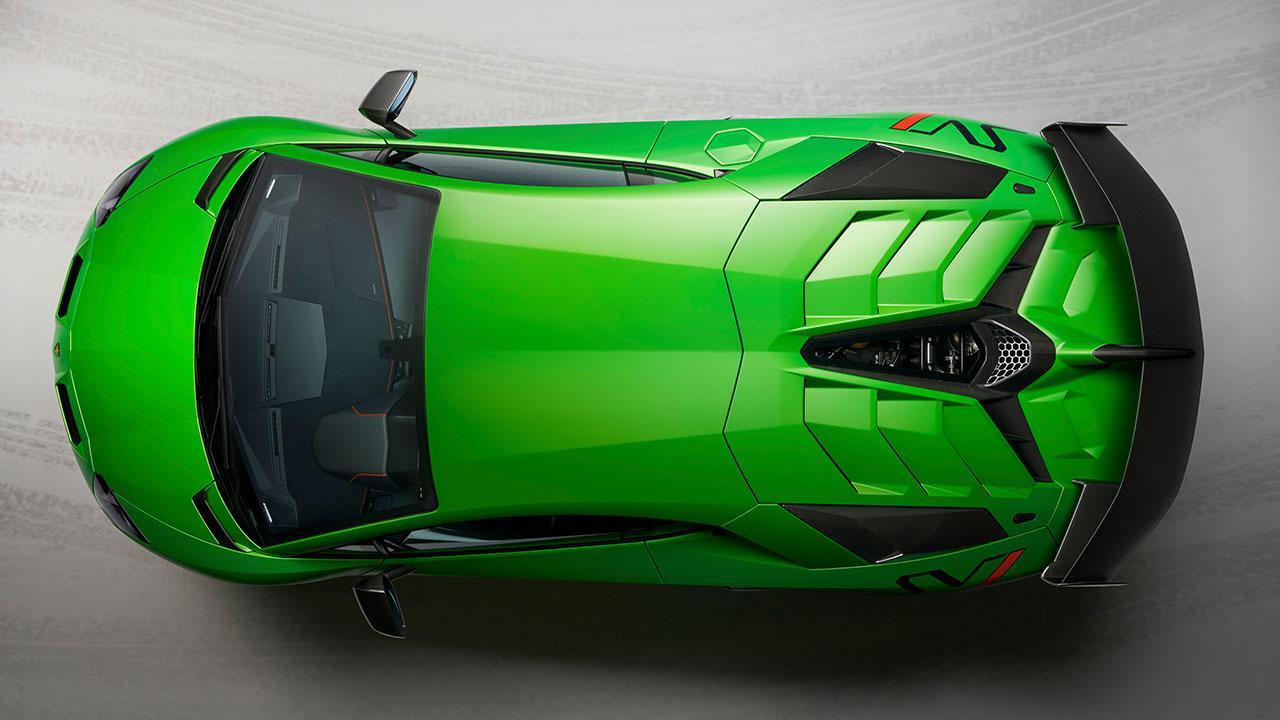 Lamborghini Aventador SVJ - Ansicht von Oben