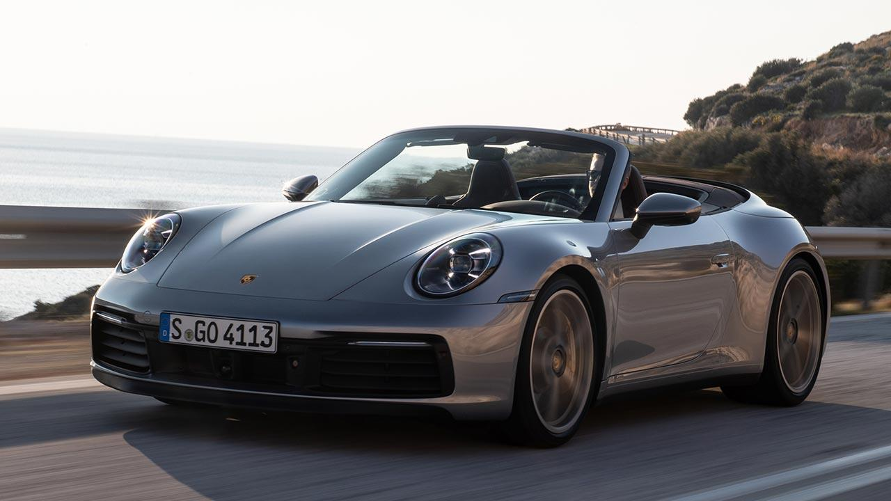Porsche 911 Carrera S Cabriolet - in voller Fahrt