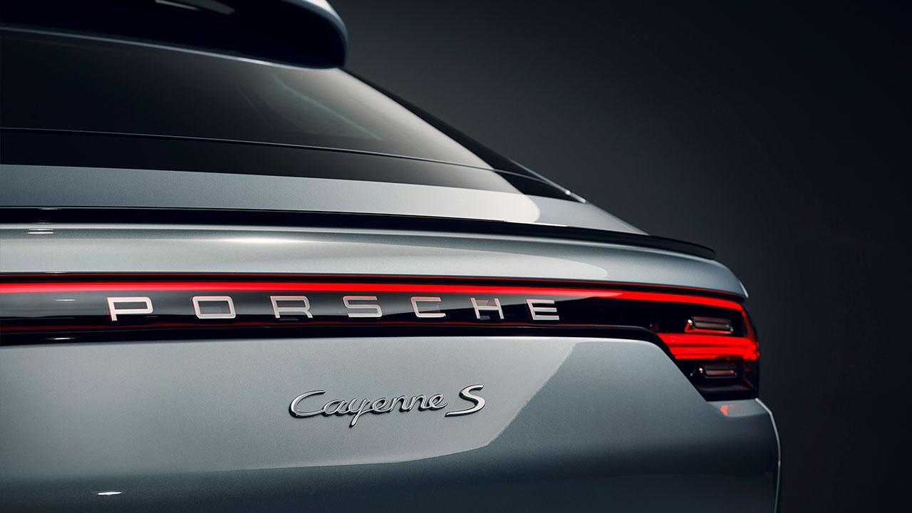 Porsche Cayenne S Coupé - Schriftzug