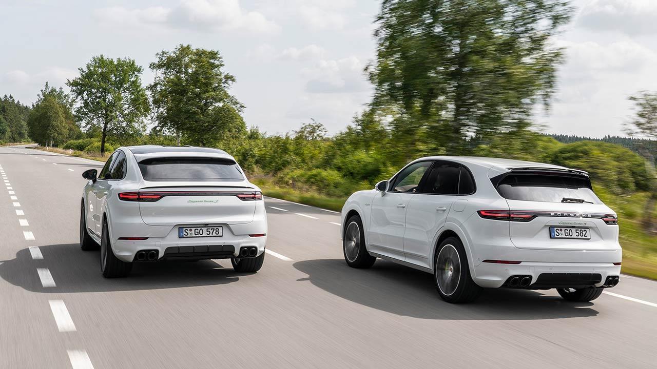 Porsche Cayenne Turbo S E-Hybrid Coupé - Heckansicht