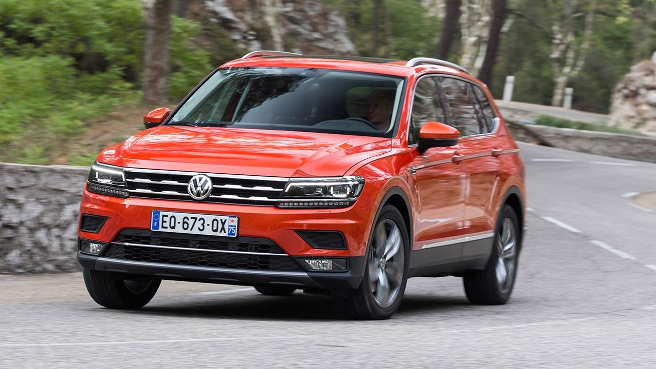 Volkswagen Tiguan Allspace - Kurvenfahrten
