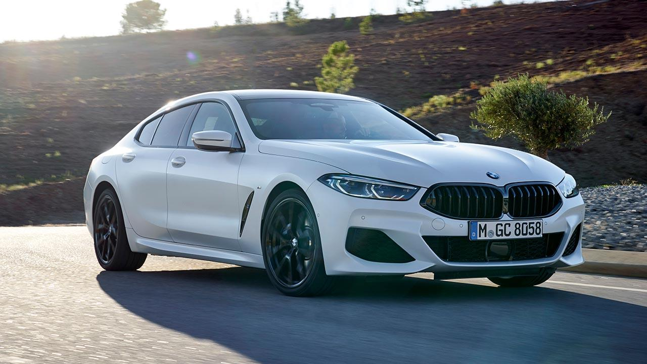 BMW 8er Gran Coupé - seitliche Frontansicht