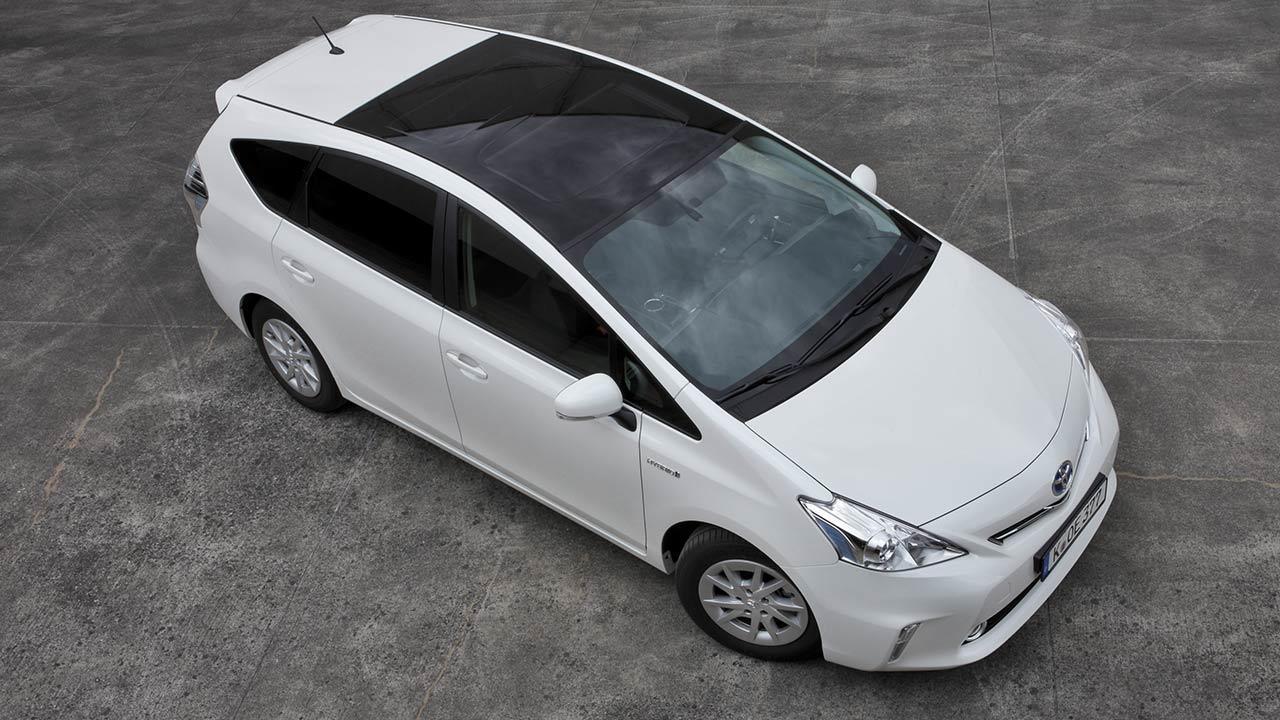 Toyota Prius Plus - Vogelperspektive