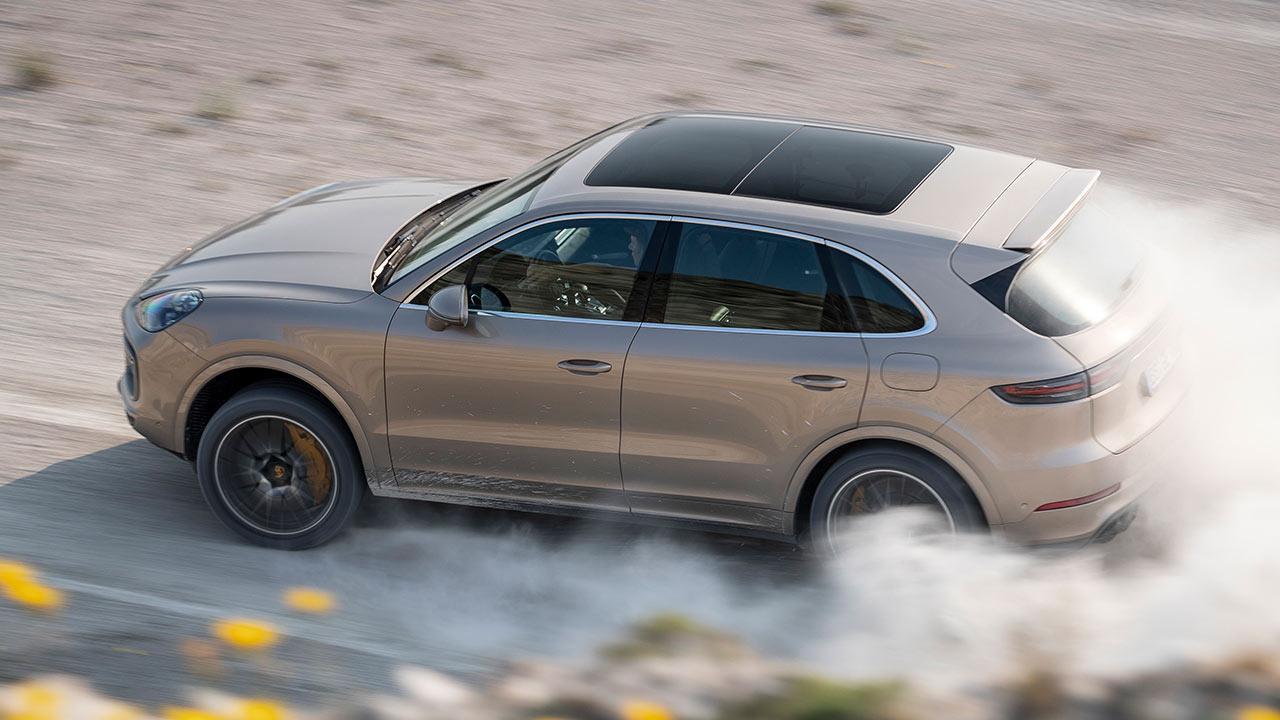 Porsche Cayenne Turbo S E-Hybrid - in voller Fahrt