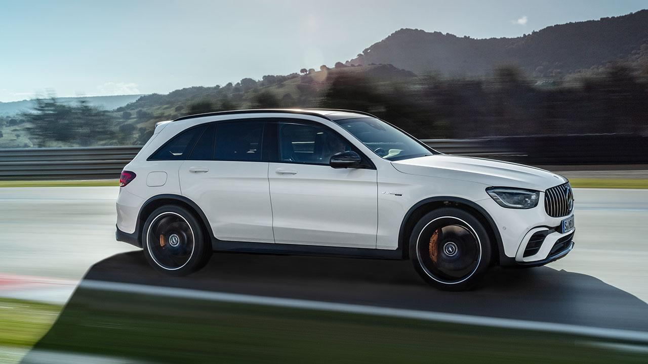 Mercedes-AMG GLC 63 S 4MATIC+ SUV - in voller Fahrt
