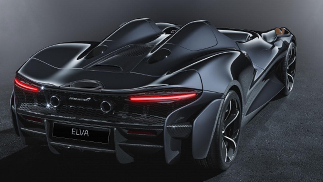 McLaren Elva - seitliche Heckansicht
