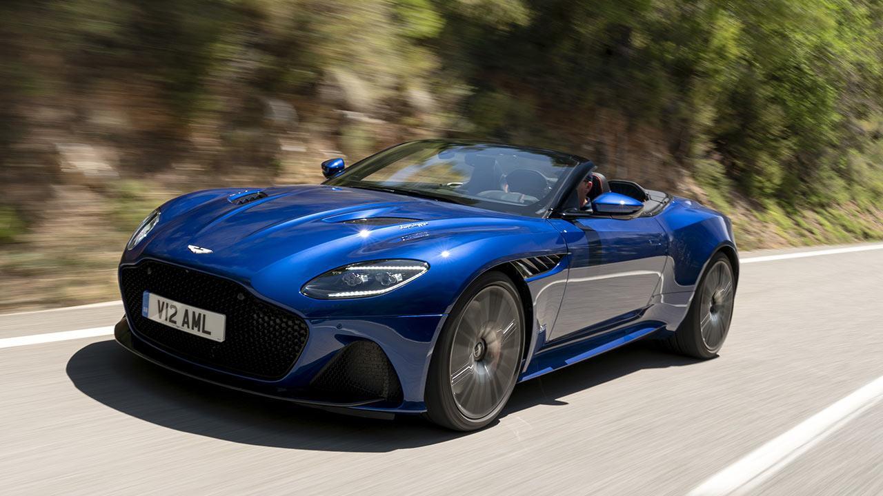 Aston Martin DBS Superleggera Volante - mit voller Geschwindigkeit