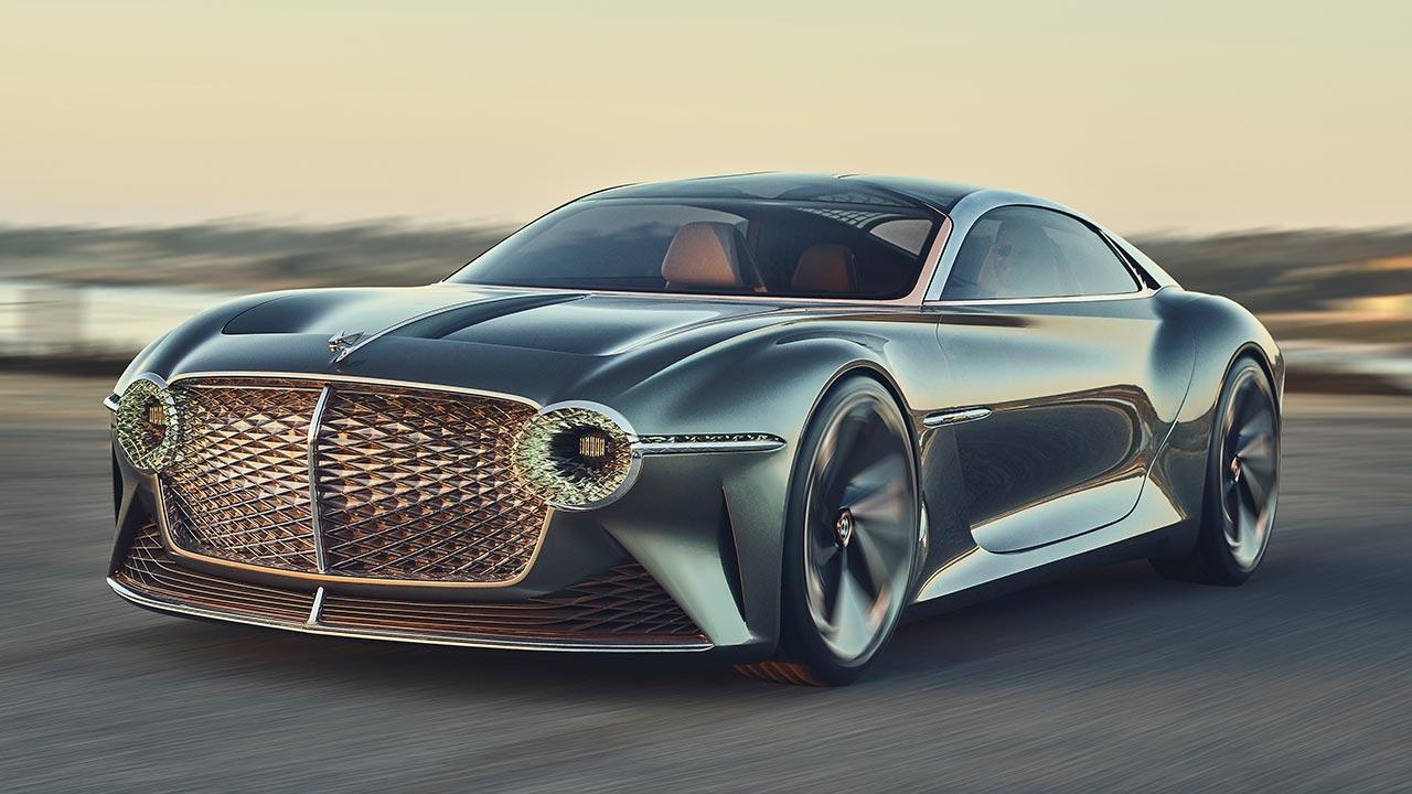 Bentley EXP 100 GT - in voller Fahrt