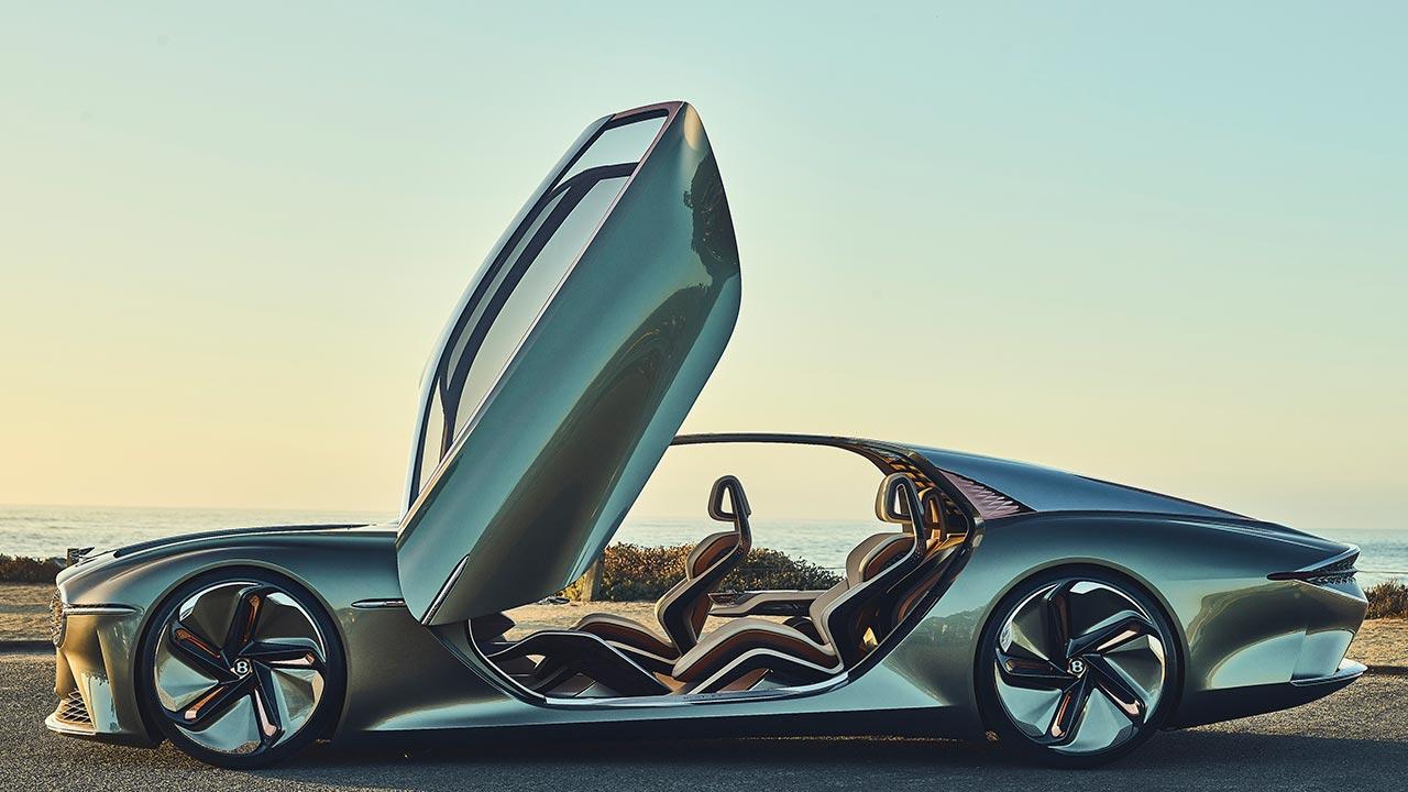 Bentley EXP 100 GT - Seitenansicht mit offener Tür