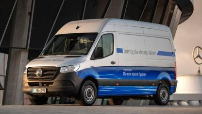 Mercedes-Benz eSprinter - in voller Fahrt