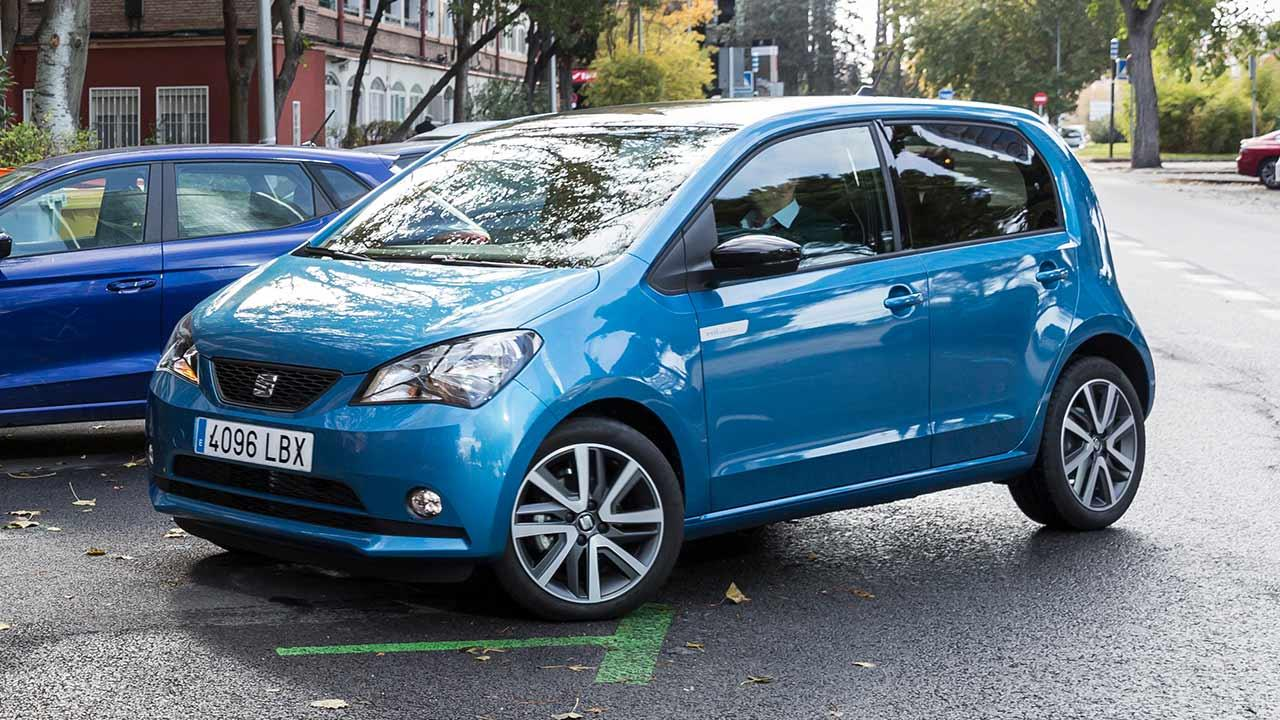 SEAT Mii electric - am Parkplatz
