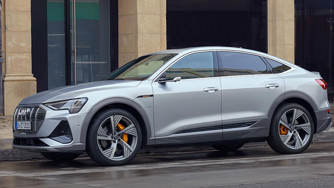 Audi e-tron Sportback 50 quattro - in der Stadt