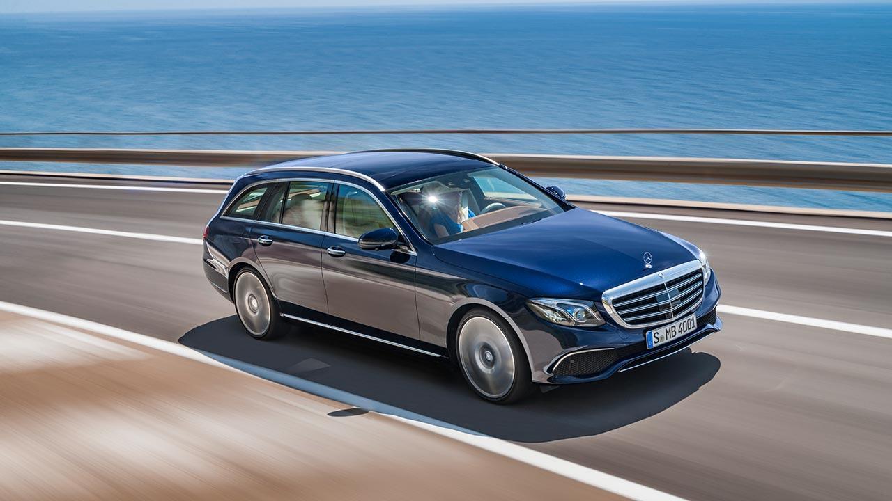 Mercedes-Benz E-Klasse T-Modell - in voller Fahrt