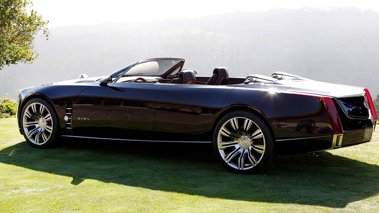 Cadillac Ciel - Traumhaft Zukünftiges Konzept - Seitenansicht mit offenem Verdeck