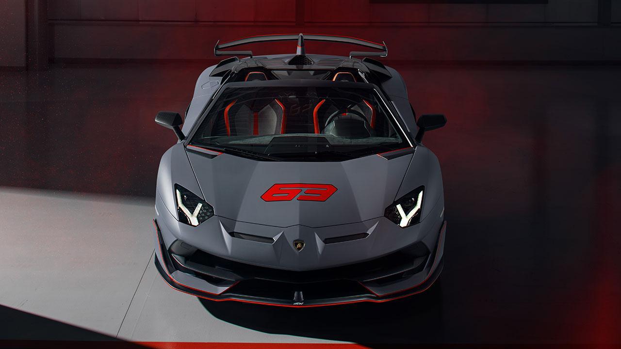 Lamborghini Aventador SVJ Roadster - Frontansicht in Grau