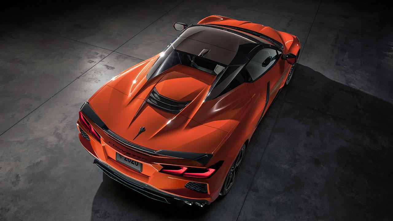 Chevrolet Corvette Stingray Convertible - Vogelperspektive