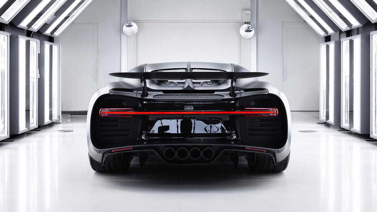 Bugatti Chiron Noire Exclusive Special Model - Heckansicht