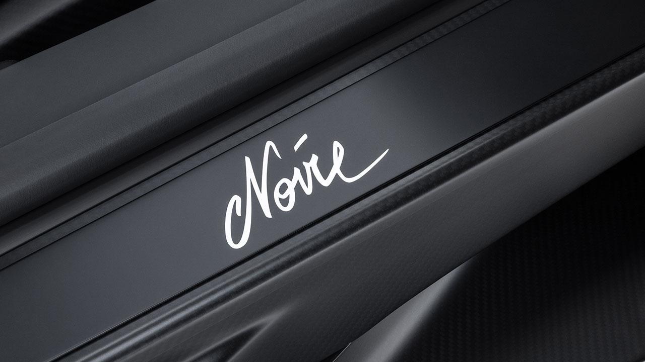 Bugatti Chiron Noire Exclusive Special Model - Schriftzug