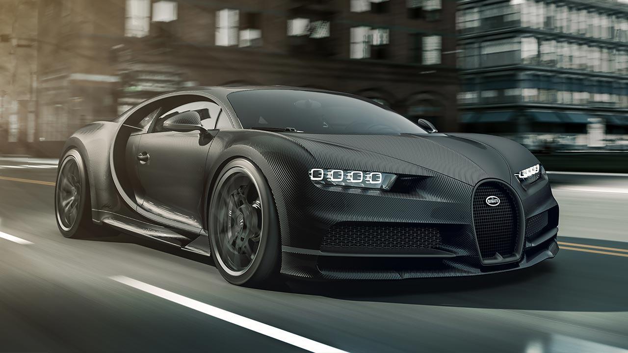 Bugatti Chiron Noire Exclusive Special Model - in voller Fahrt