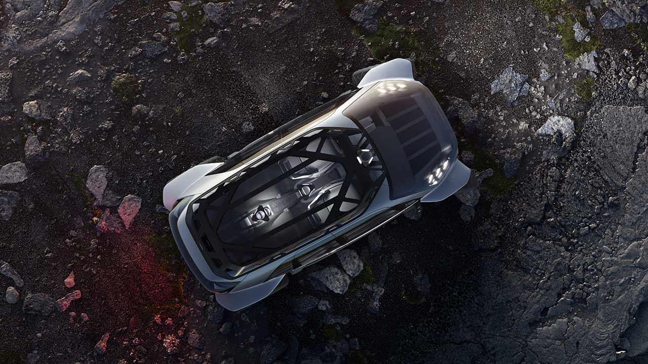 Audi AI:Trail quattro - Vogelperspektive