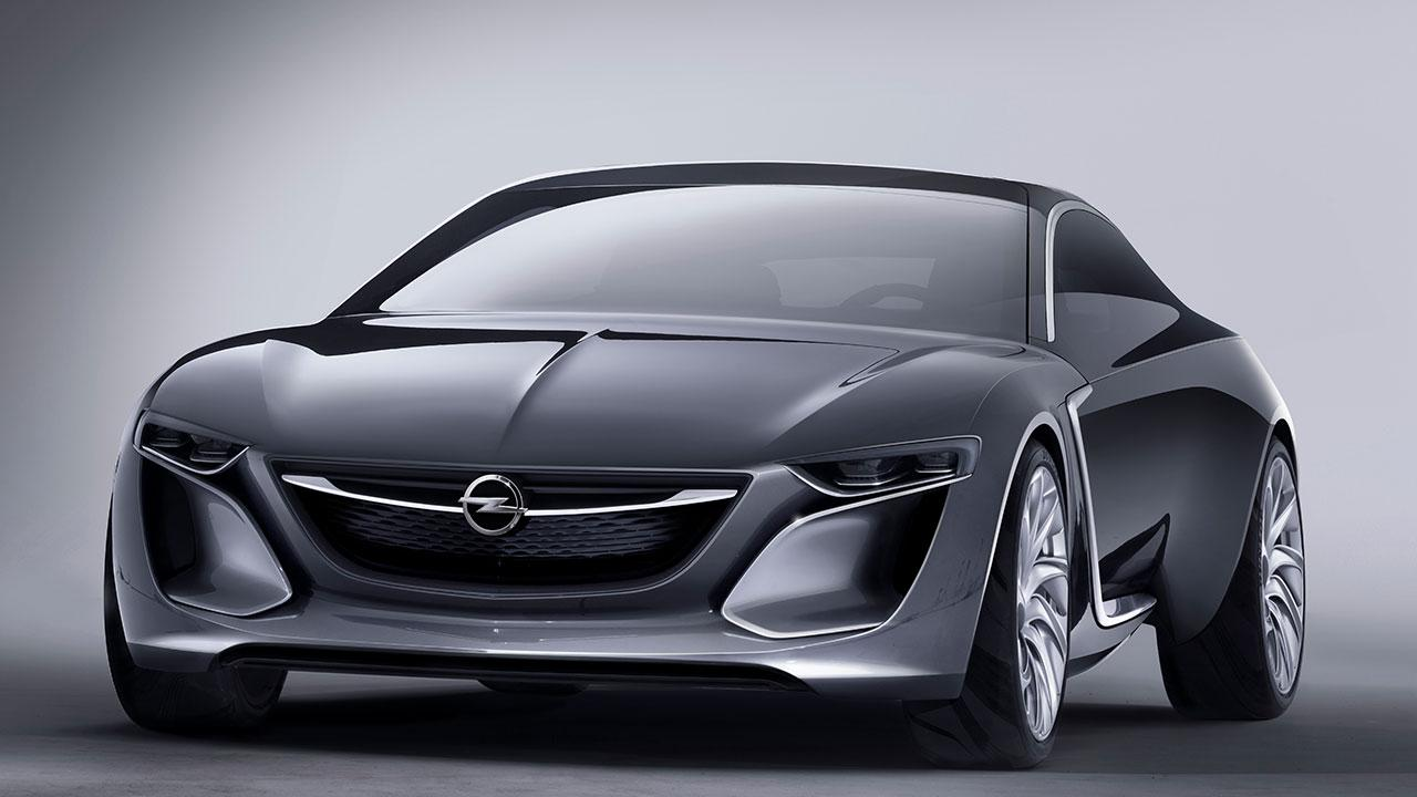 Opel Monza Concept - seitliche Frontansicht