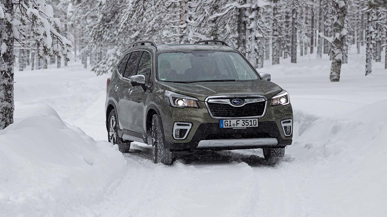 Subaru Forester e-BOXER - durch den Schee