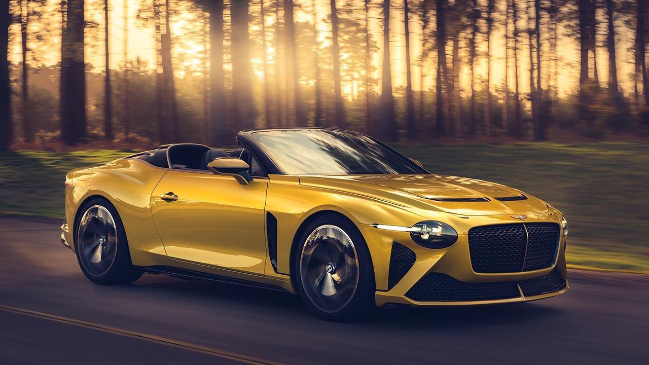 Bentley Bacalar Mulliner - in voller Fahrt