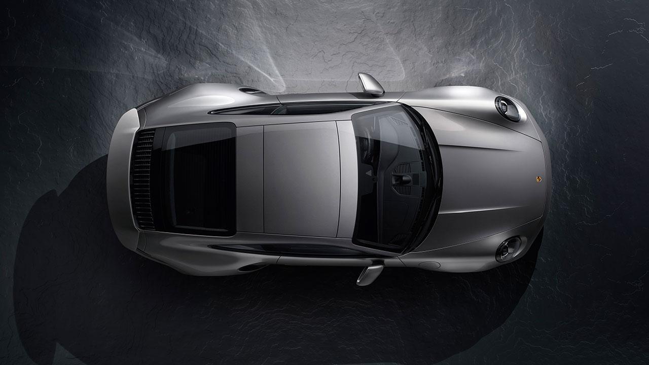 Porsche 911 Turbo S - Vogelperspektive