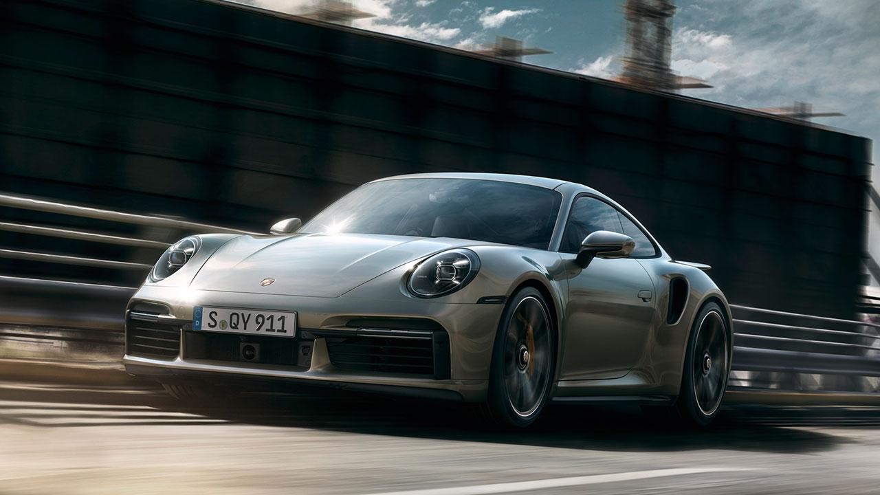 Porsche 911 Turbo S - in voller Fahrt