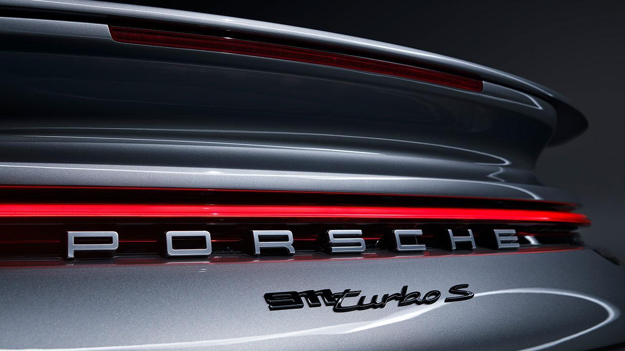 Porsche 911 Turbo S - Schriftzug
