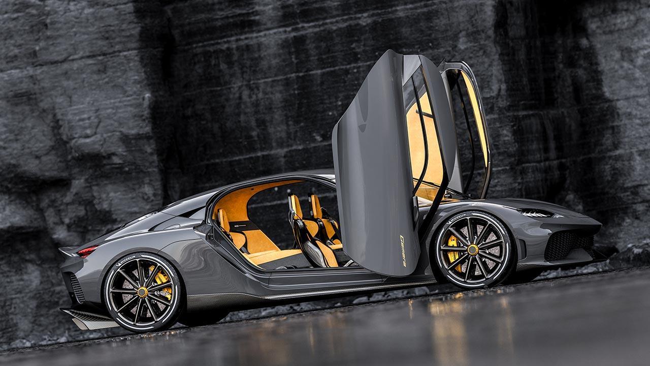 Koenigsegg Gemera 1700PS - offene Flügeltüren