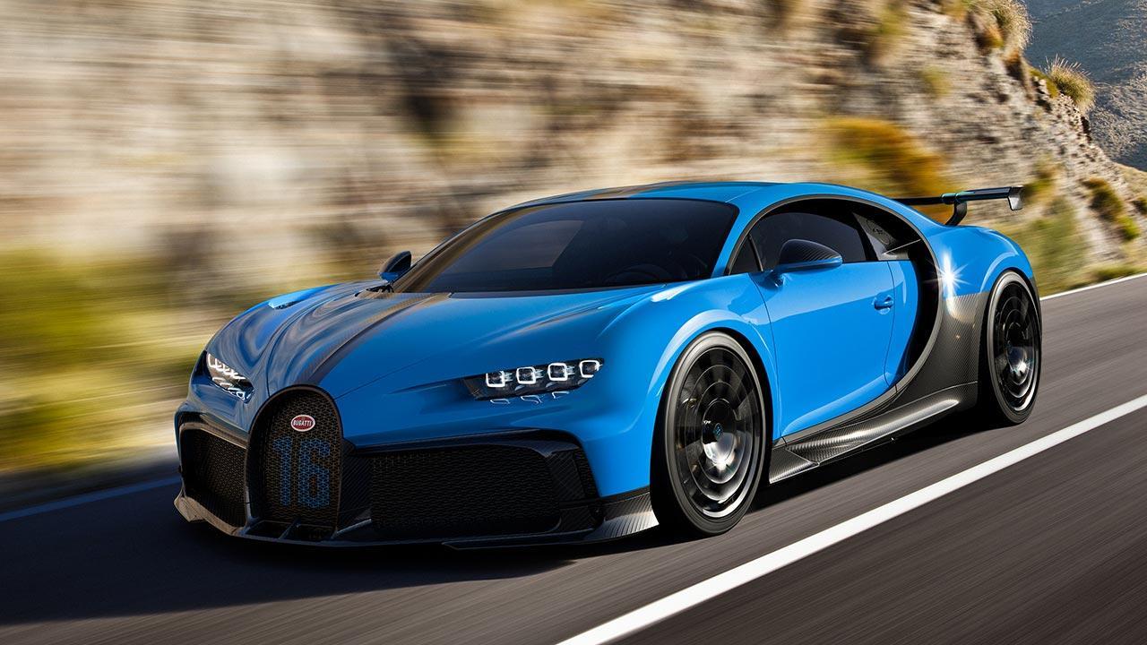 Bugatti Chiron Pur Sport - in voller Fahrt
