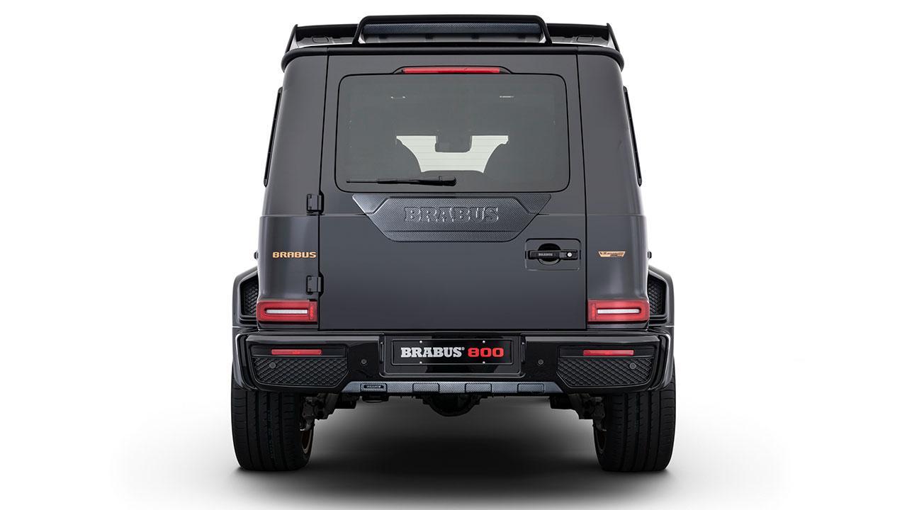 BRABUS 800 Black & Gold Edition - Heckansicht