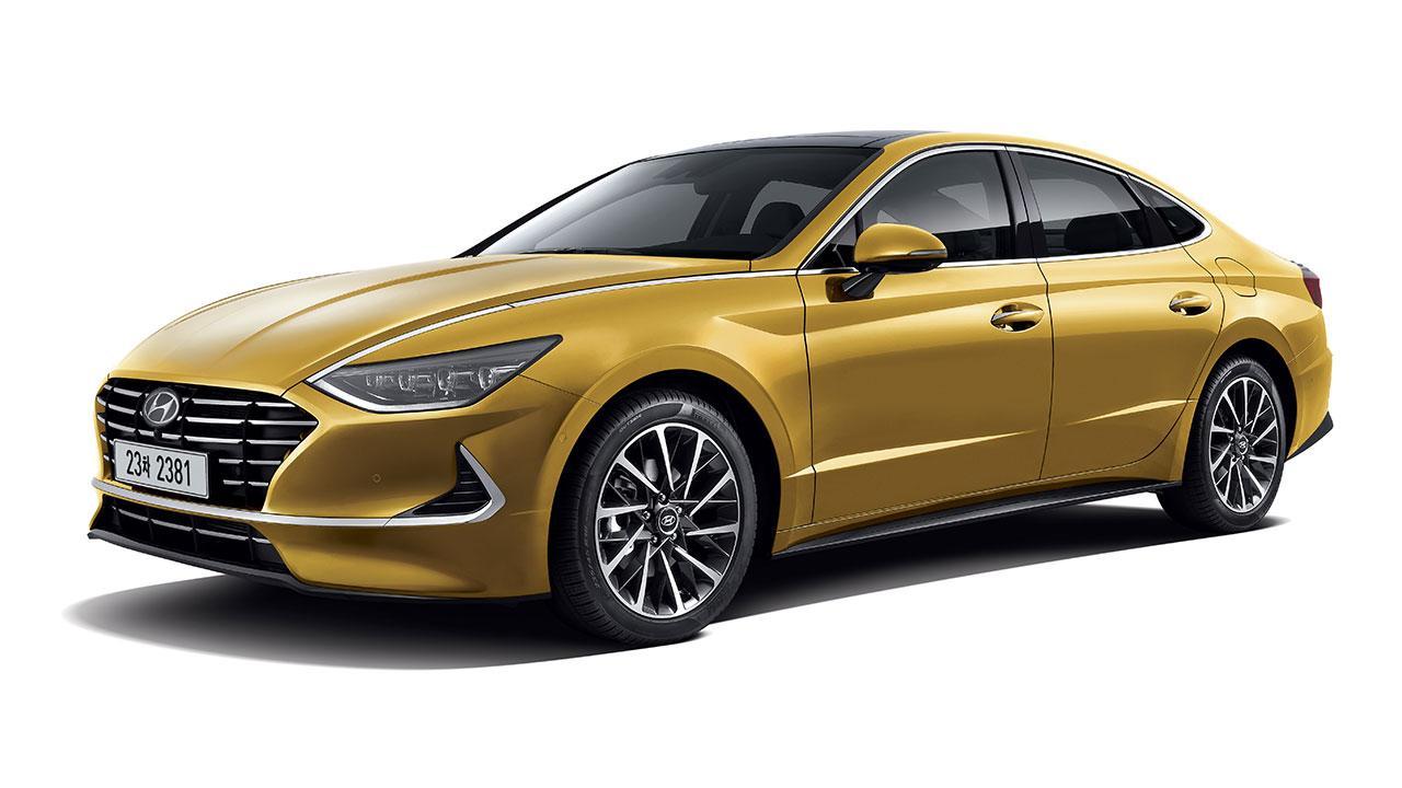 Hyundai Sonata -  seitliche Frontansicht