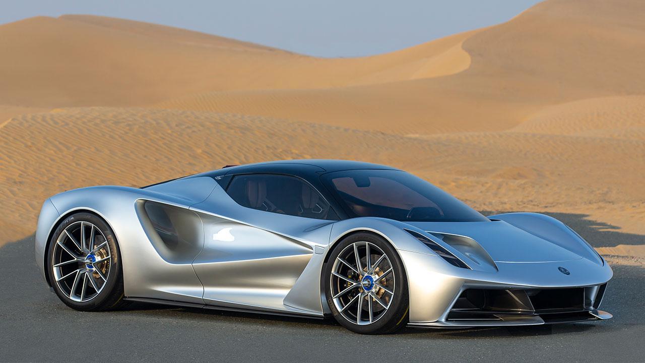 Lotus Evija - in der Wüste