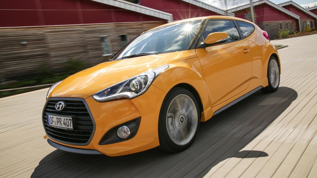 Hyundai Veloster - seitliche Frontansicht