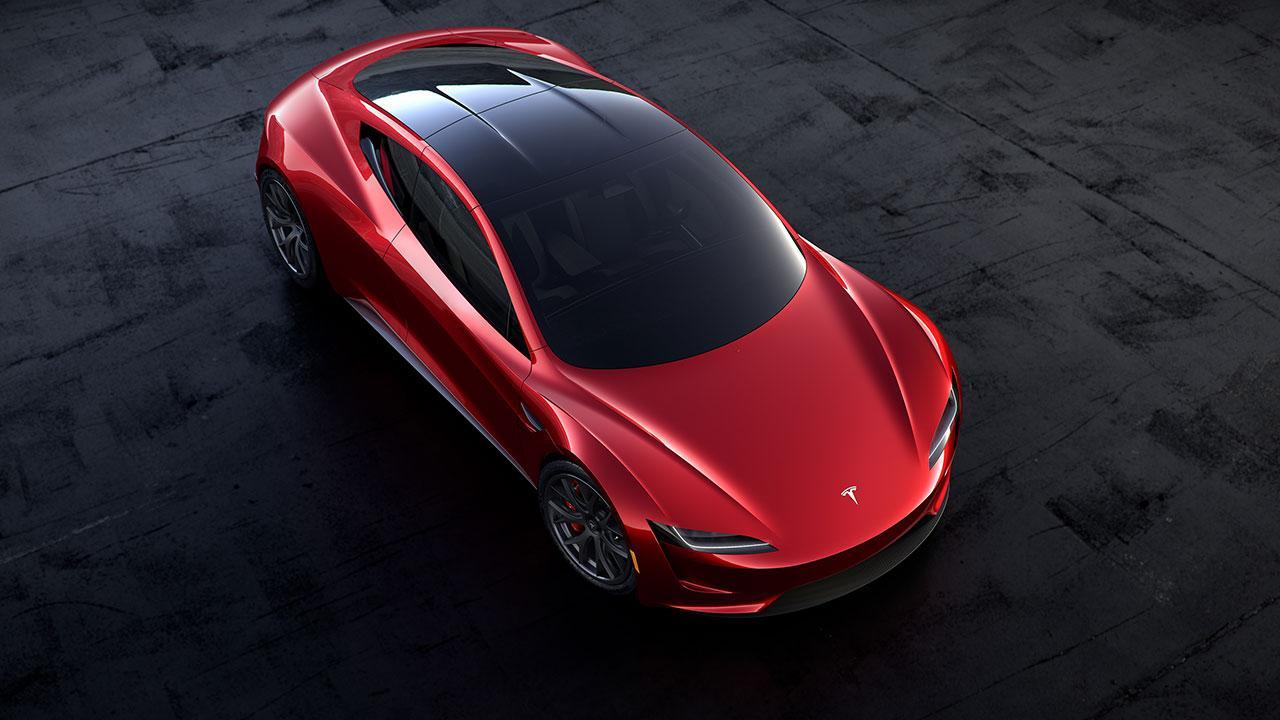 Tesla Roadster - Vogelperspektive