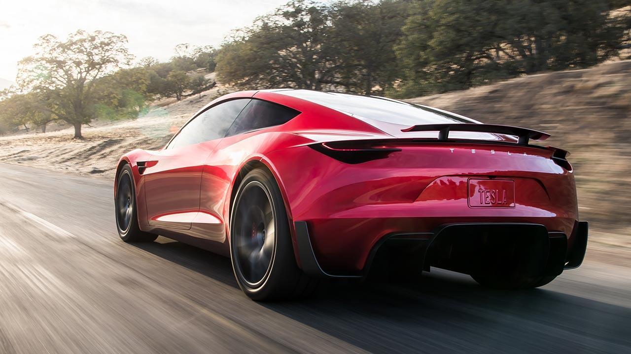 Tesla Roadster - in voller Fahrt