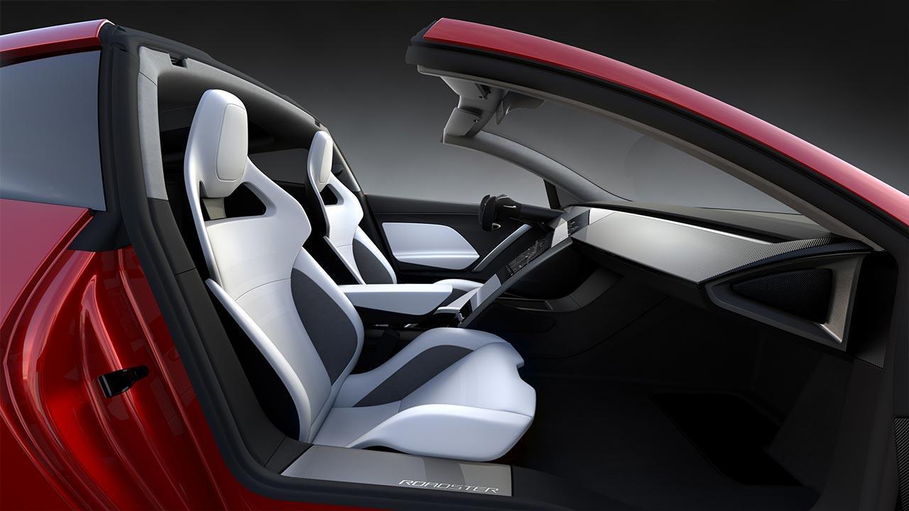 Tesla Roadster - Vordersitze