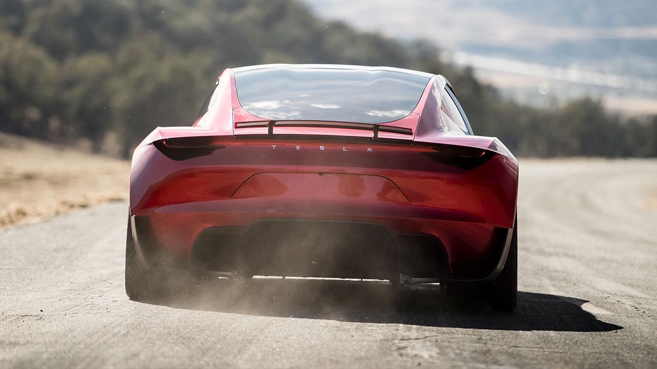 Tesla Roadster - Heckansicht