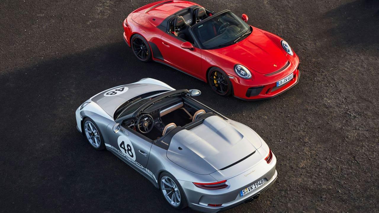 Porsche 911 Speedster - Vogelperspektive