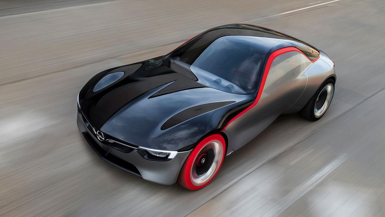 Opel GT Concept - Vogelperspektive